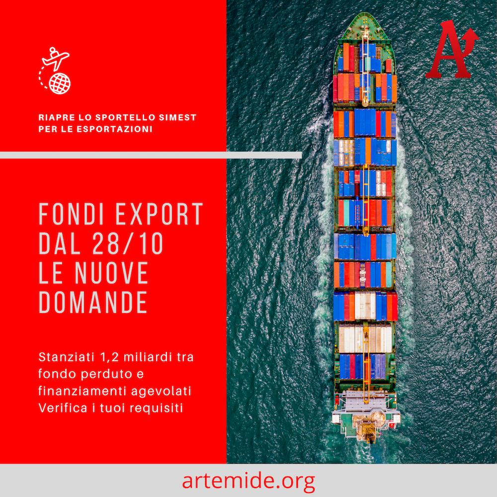 Fondi export dal 28 ottobre le nuove domande